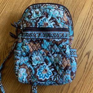 Vera Bradley Blue & Brown Backpack